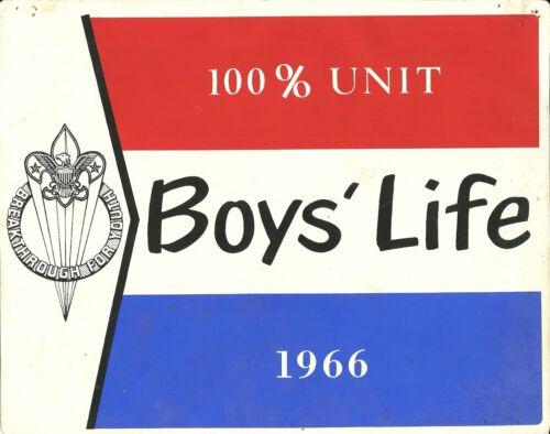 """7 3//4 x 10/"""" 1966-100/% BOYS/' LIFE VINTAGE BOY SCOUT VINYL"""