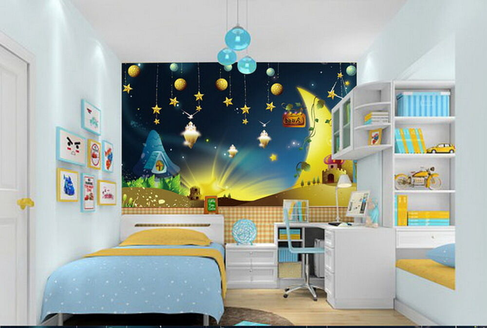 Fairy Tale Star Night Moon Ceiling Wall Mural Wall paper Decal Wall Art
