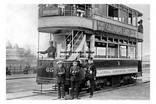 pt0584 - Blackpool Tram no 65 , Lancashire - photo 6x4