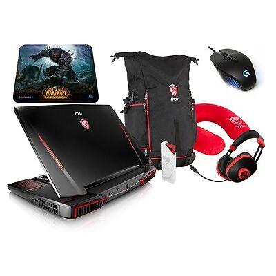"""MSI GT83VR 18"""" i7 1TB+512GB 64GB GTX 1080 8G SLI Gaming Laptop+Bag+Mouse+Headset"""