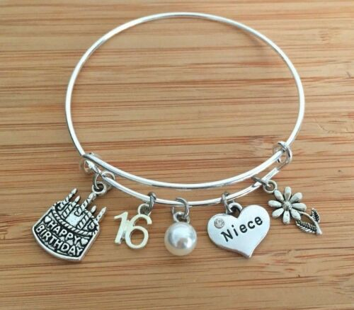 Personalised BIRTHDAY Gifts Bracelet 15th 16th 18th 21st 30th Gift for Her #1