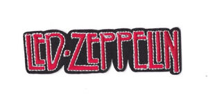 LED-ZEPPELIN-RED-BLACK-LOGO-Iron-on-Sew-on-Patch-Embroidered-Badge-Music-PT129
