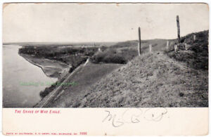 THE-GRAVE-OF-WAR-EAGLE-Dakota-Indian-Chief-SIOUX-CITY-Iowa-c1910-POSTCARD