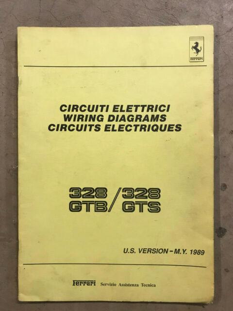 Ferrari 328 Gtb 328 Gts Wiring Diagrams - 1989 Models