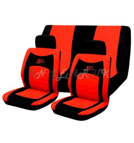 Rojo 6pc RS Racing Malla Estilo de Cubierta de asiento de coche Universal Rápido Post Gran Regalo