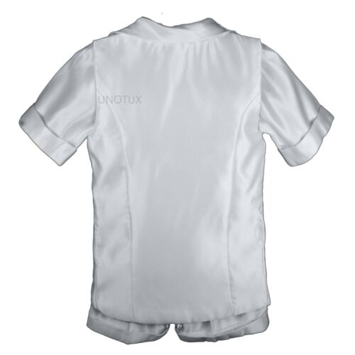 4T New Infant Toddler Boys Christening Baptism Vest Set Outfits White from Baby