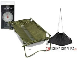 CARP-FISHING-CRADLE-WEIGH-SLING-SCALES-SHORT-SESSION-QUICK-SET-UP-NGT-UNHOOKING