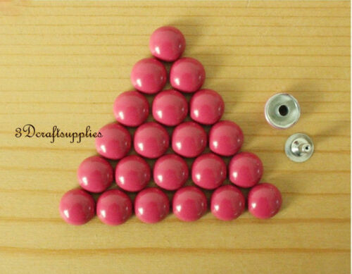 rivets leather rivet bag clothing shoes dome studs 100 sets 10mm Hot pink M62E