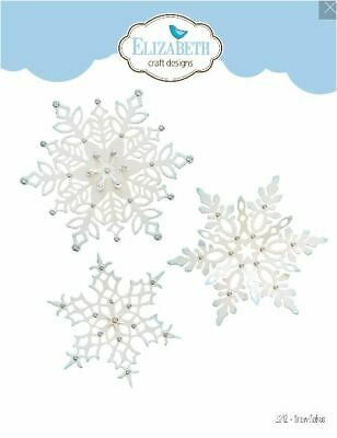 Elizabeth Craft Designs Cutting Die Set  ~  SNOWFLAKES Cold Winter   ~1692