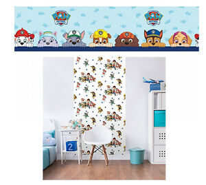 paw patrol 39 gut welpen 39 tapete bord re wand dekoration. Black Bedroom Furniture Sets. Home Design Ideas
