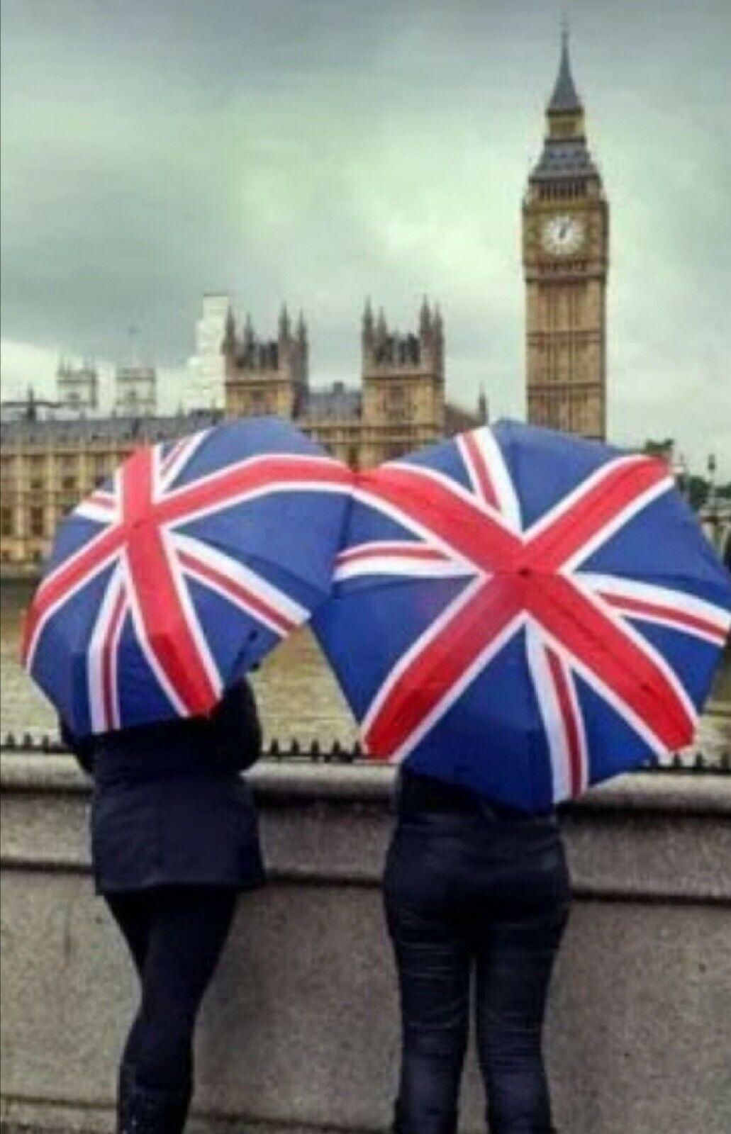 Mini 3 folding Portable Folding UNION JACK BRITISH FLAG Umbnrella Super Compact
