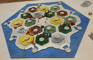 Details About Settlers Of Catan Board Wooden 3d Board 3 4 Player