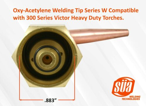 Oxy-Acetylene Welding Tips Model W Compatible with 300 Series Victor Torches