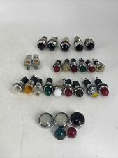 Lot Of Over 20 Pieces Round Indicator Panel Lights Johnson Jeweled
