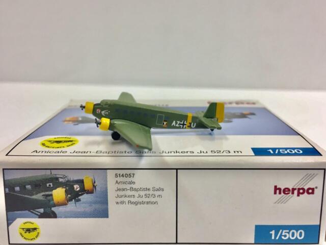Herpa Wings 1:500 Junkers Ju 52//3 LUFTHANSA D-aquí 516709 modellairport 500