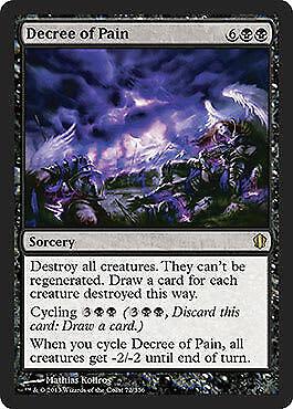 Decree of Pain Commander 2013 Edition MTG Magic Rare