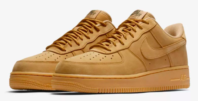 Nike Air Force 1 Low Flax Wheat Gum Mens Size 15 Aa4061 200 Retro OG Af1 Suede