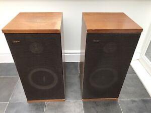 B-amp-w-dm4-Bowers-und-Wilkins-Boden-stehend-Lautsprecher-WDR-England-Made