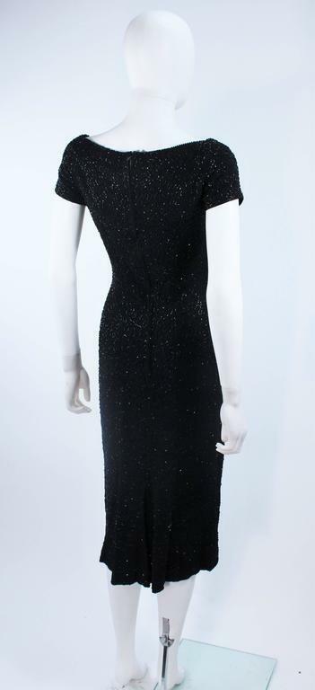 CEIL CHAPMAN Black Beaded Cocktail Dress Size 2 - image 3