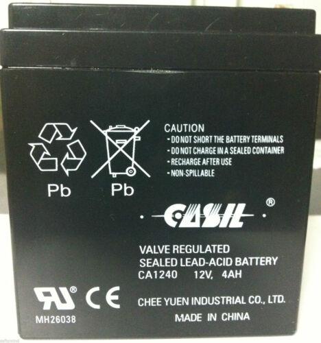 CASIL CA-1240 12V 4AH SLA Battery for Casil Ca1240 Alarm Control System New 2018