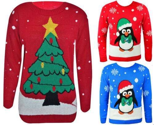 Men/'s Women/'s Christmas Jumper le luci di Natale a Maglia Novità Pullover Light Up