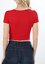 Crop-top-scoop-neck-short-sleeve-fitted-tee-casual-stretch-cotton-solid-top-S-L thumbnail 16