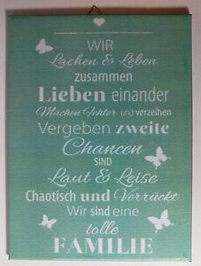 Dekofliese-Wandbild-Bildfliese-Familie-Spruch-052DP-Handarbeit-15x20cm
