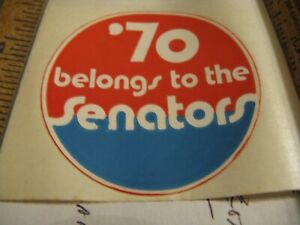 BASEBALL-Sticker-Rare-1970-Washington-Senators-Last-Year-Before-Move-to-Texas