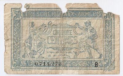 France 50 Centimes 1917 Tresorerie Aux Armees B472