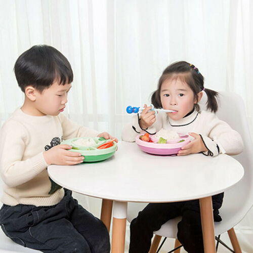 Cute Plastic Baby Kids Suction Table Food Tray Placemat Plate Bowl Mat CB