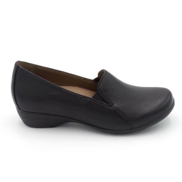 Dansko Leather Comfort Shoes Farah Black