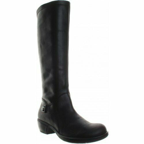 FLY London Mistry Women's Leather Long Black Riding Boots UK 3 Eu 36