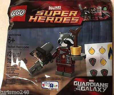 Lego ROCKET RACCOON minifigure Guardians of the Galaxy Polybag 5002145 RETIRED!