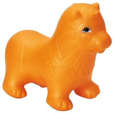 TOGU Hüpftier Leo, Sprungpferd, Hüpfpferd, Sprungtier aufblasbar, orange