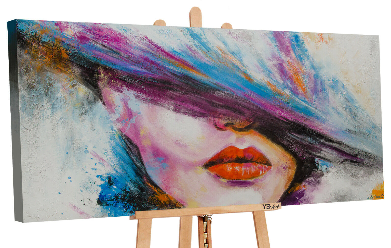 Acryl Gemälde Die Muse 120x60cm Handgemalte Bilder Leinwand Bild Kunst