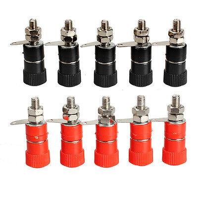 5 pair Amplifier Terminal Connector Binding Post Banana Plug Jack Mount