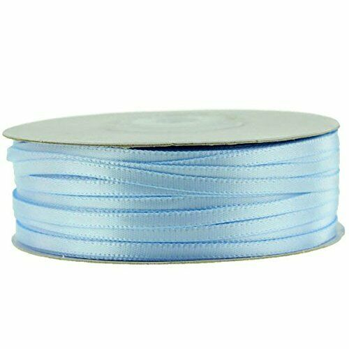 Double Face LIGHT BLUE 100/% Polyester Satin Ribbon Assorted Sizes