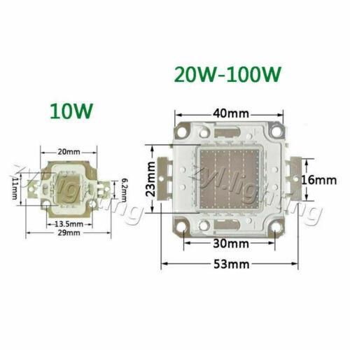 LED chip 10w 20w 30w 50w 100w rgb cob leuchte blau licht Flutlicht DC 12V 36V