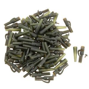 50Pcs-Set-Terminale-Pesca-Attrezzatura-Piombo-Sicurezza-clip-con-pin-Coda-In-Gomma-I5Q5
