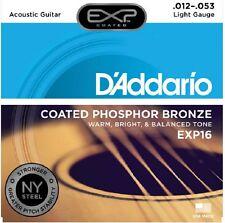 D'Addario EXP16 Coated EJ16 Phosphor Bronze Light,12-53 Acoustic Guitar String