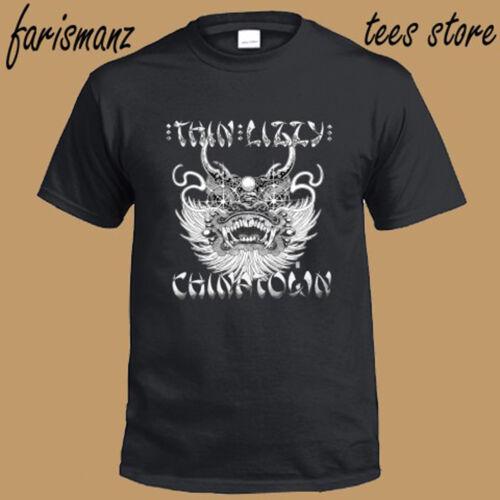 Nouveau Thin Lizzy China town rock band Legend Homme T-shirt noir taille S à 3XL