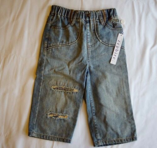 Zephire Generation Boy Indigo Denim 34 Pants Jeans Elastic Waist Size 5 NEW