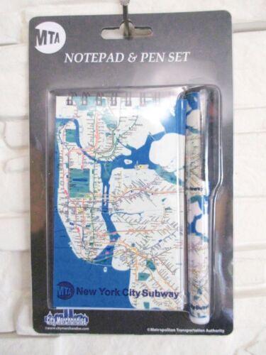 New York Notizblock mit Kugelschreiber U-Bahn Subway Transport