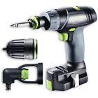 Festool 10.8v Cordless Drill TXS Li 2 6ah Set GB 240v