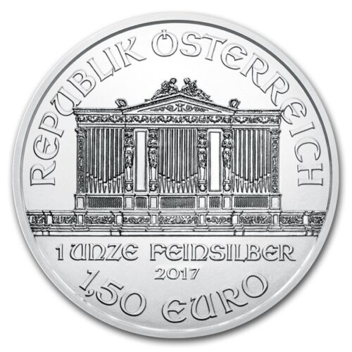 2017 Austrian Philharmonic 1 oz .999 Silver BU Round Very Limited Bullion Coin