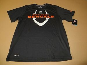 4f7335dd Cincinnati Bengals Football ICON NFL Men's Dri Fit Black T-Shirt by ...