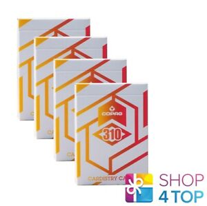 4-Mazos-Copag-310-Cardistry-Alpha-Naranja-Playing-Tarjetas-Papel-Estandar-Nuevo