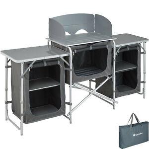 Cuisine de camping aluminium armoire mobilier tente placard d'extérieur pliable