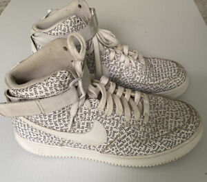 Details about Men's Nike Air Force 1s Just Do It All Over High Tops Size 11  AQ9648-100 Used