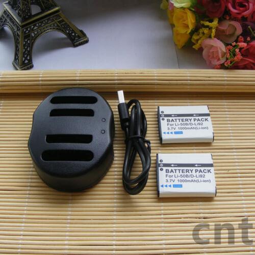 Cargador De Batería Para Olympus SZ-10 SZ-11 SZ-12 SZ-14 SZ-20 SZ-30 2X Li50B Li-50B